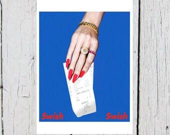 Katy Perry Nicki Minaj Swish Swish Birthday Card (Witness Album, Swish Swish Bish)