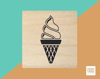 Ice Cream - 3cm Rubber Stamp (DODRS0074)