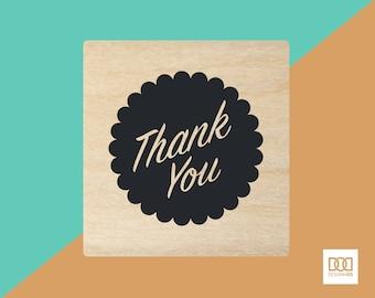 Thank You Badge - 3cm Rubber Stamp (DODRS0115)