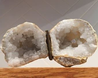 Geode Ring Box | Heart Shaped Box | Proposal Ideas | Wedding Ring | Jewelry Box | Secret Proposal | Engagement Ring | Propose | Ring Holder