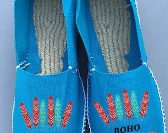 """""""La Bohème"""" sneakers aqua blue color"""