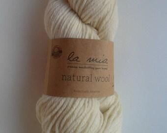 LA MIA Natural Wool Knitting Yarn, Hand Knitting Yarn