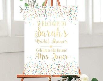Printable Bridal shower Sign, Wedding Printables, Gold Bridal Sign,  Custom wedding sign, Custom quote, digital Download