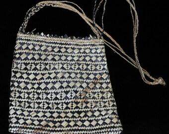 bag of plaited leaf fibre