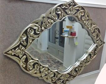 M16 Antique Solid Wood Mirror