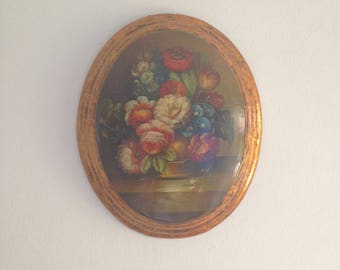 M20 Oval Wooden Resin Oil Painting