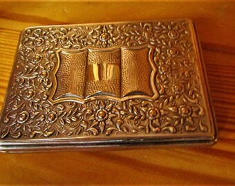 SILVER 1950's CIGARETTE Case Is ExtraOrdinary ~ Both Inside and Out ~ Indulge Yourself !!!