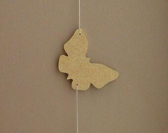 guirlande 3 papillons  en bois à décorer soi-même ,objet décoratif