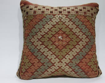 20x20 embroidery cushions kilim pillow turkish antique design kilim lombaire pillows from rugs throw pillow natural fabric 1312