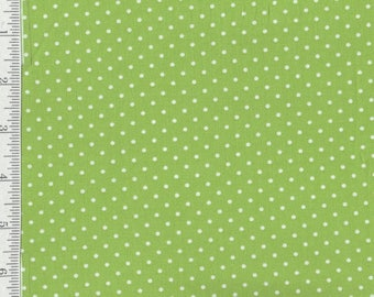 SALE! Lakehouse Polka dots - Per Yard- Lakehouse - Grey - No Pam Kitty Here! Green
