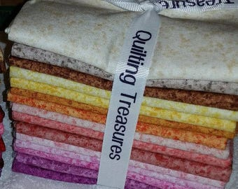 SALE** 15 Fat Quarters - Quilting Treasuers - Warm Colors - Light Bundle - Last one in the small batch