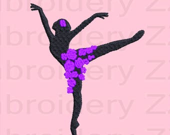 Dancer Embroidery design, dance pattern, dance embroidery pattern, dance design file, dance monogram, dance machine embroidery, ballet dance