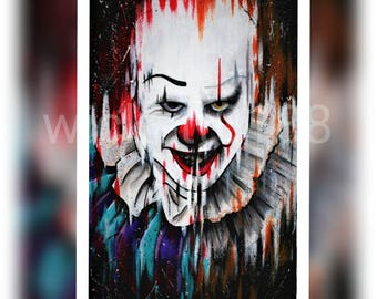 It pennywise original fan art PRINT