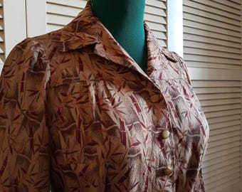 Original '60s Blouse, Printed, Bamboo Cane