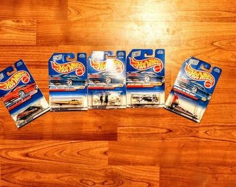 Lot of 5 Vintage Mattel Hot Wheels Imaginative Vehicles, Out of Production