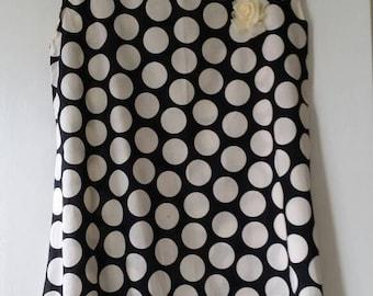Handmade polka dot tunic dress