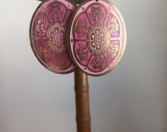 Vintage Cloisonné earrings.