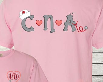 Monogrammed CNA Certified Nursing Assistant Personalized Customized Nursing