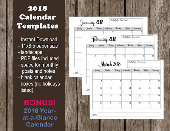 Calendar Zimbabwe Pdf Download : Calendar printable template pdf instant download