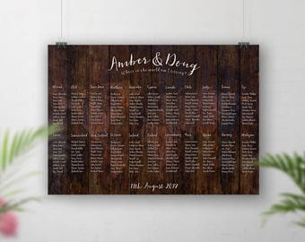 Rustic Wedding Seating Chart, World Map Table Plan, Table Plan Map, Wedding Sign, Guests Seating Plan, Table Seating, Travel Theme Decor