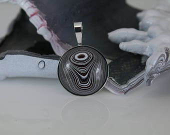 FORDITE PENDANT MICHIGAN - Motor City Agate - Detroit Agate (No Chain Included) Beautiful Shades - Handcrafted - Free Shipping