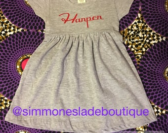 Personalized Infant/Toddler Dress