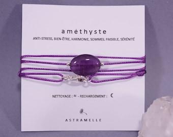 Necklace / greed Amethyst Charm Bracelet