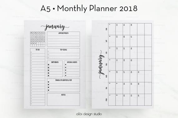 Monthly Planner Template  BesikEightyCo
