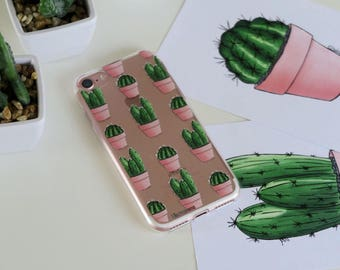 Case IPhone 7 with cactus pattern