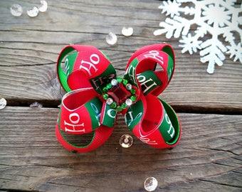 Ho-Ho-Ho Christmas Hair Bow