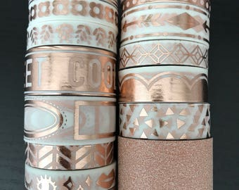 "18"" SAMPLES of Recollections rose gold washi tape (M197)"