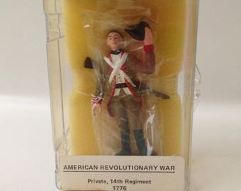 Vintage Reeves International American Revolutionary War Private 14th Regiment 1776 Toy Soldier