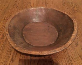 Large Vintage Village Bowl