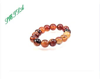 10mm Agate,Natural Agate Bracelet,Striped Agate Gemstone Bracelet, Agate Jewelry, Agate Gift for men,Bead Bracelet Women,Stretch Bracelet