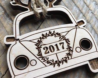 2017 Tree Ornament, 2016 Ornament, Funny Tree Ornament, Engraved Christmas Ornament, Laser Cut Tree Ornament, Funny Christmas Ornament