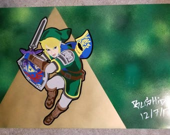 Legend Of Zelda, Link Spray Paint Art