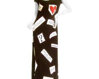 Resist! Moschino Couture Political Themed Dress. US Size 10.