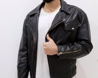 Leather jacket Vintage Size 48