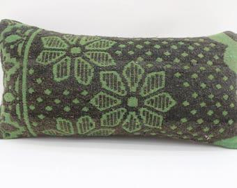 10x20 green kilim pillow decorative kilim pillow vintage kilim pillow anatolian pillow ethnic pillow lumbar pillow sofa pillow SP2550-1552