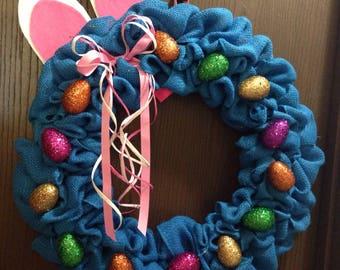 Glitter egg Easter wreath