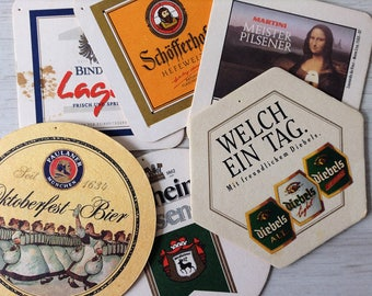 6 Octoberfest German coasters vintage