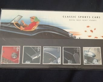 Royal Mail stamps presentation pack 1996 Classic Sports Cars