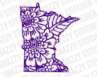 Minnesota Flower SVG. cut file.