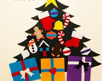 felt christmas tree,kid's christmas tree,christmas decor,christmas activity