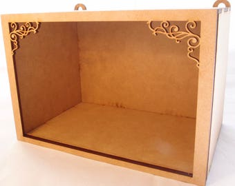 1:24 scale miniature large wall hanging roombox kit for collectors