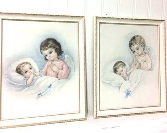Vintage Set of Italian Guardian Angel Prints