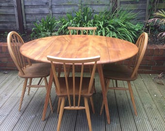 SOLD* Ercol Mid Century Drop Leaf Dining Table *SOLD