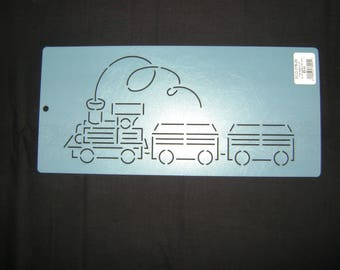 Traditional Quilting Stencil 5 in. Choo Choo Train Motif Border/Quilting