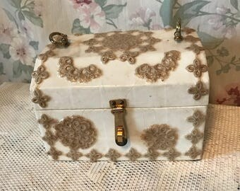 Vintage Shabby Chic Decorative Trinket Jewelry Box