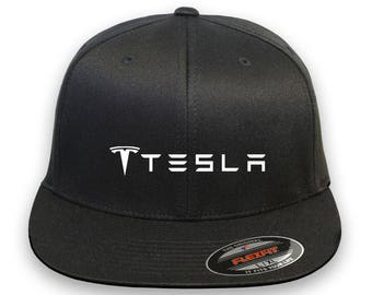 TESLA MOTOR Model 3 Model S Car Flex Fit Hat  Cap Baseball Thermo Film-Vinyl
